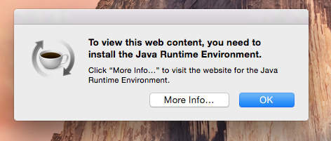 Why Does Java Runtime Environment Message Apple Community