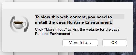 Macbook Air Keep Getting Alert For Java Runtime Environment Download