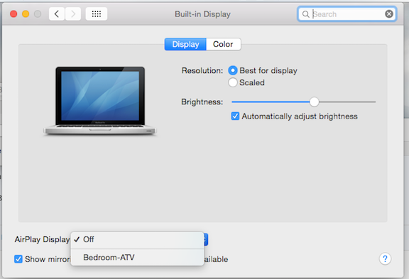 airplay button not showing mac