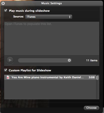 add music to iphoto slideshow - Apple Community