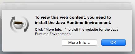 Java Runtime Environment Startup Message Apple Community