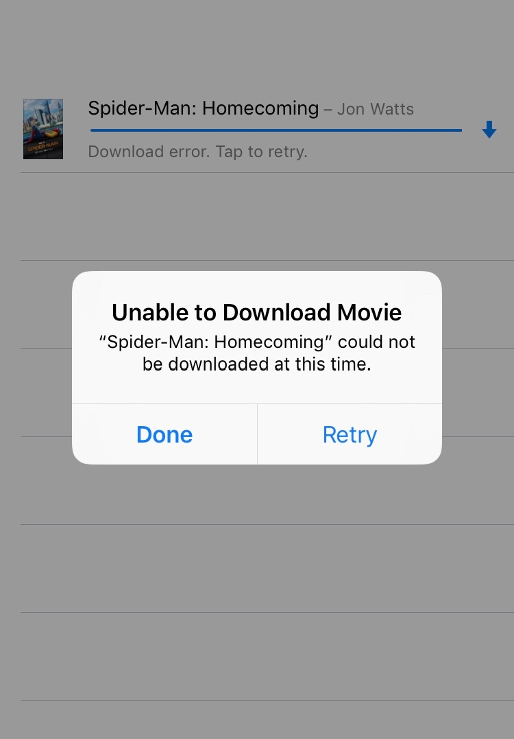 Downloading movie failure - Apple Community
