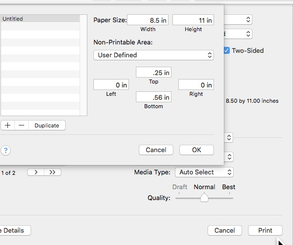 Can't do borderless printing with cu… - Apple Community