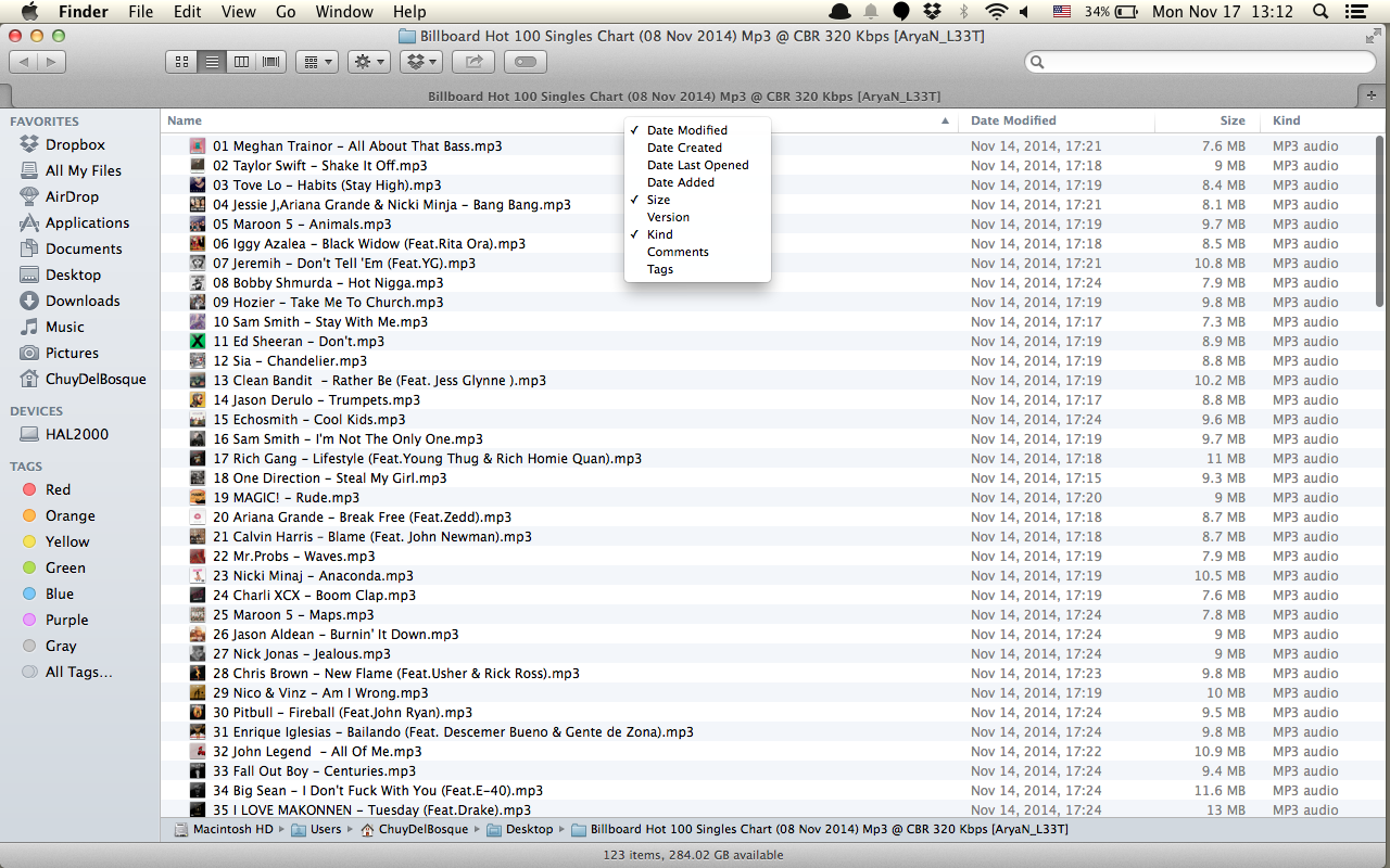 Music folder in Finder, show Authors, Alb… - Apple Community