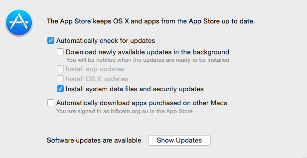 Automatic Updates via Terminal - Apple Community