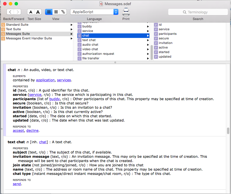 What is a good ApplesScript Dictionary re… - Apple Community