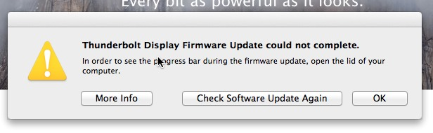 Why does Thunderbolt Display Firmware Upd… - Apple Community