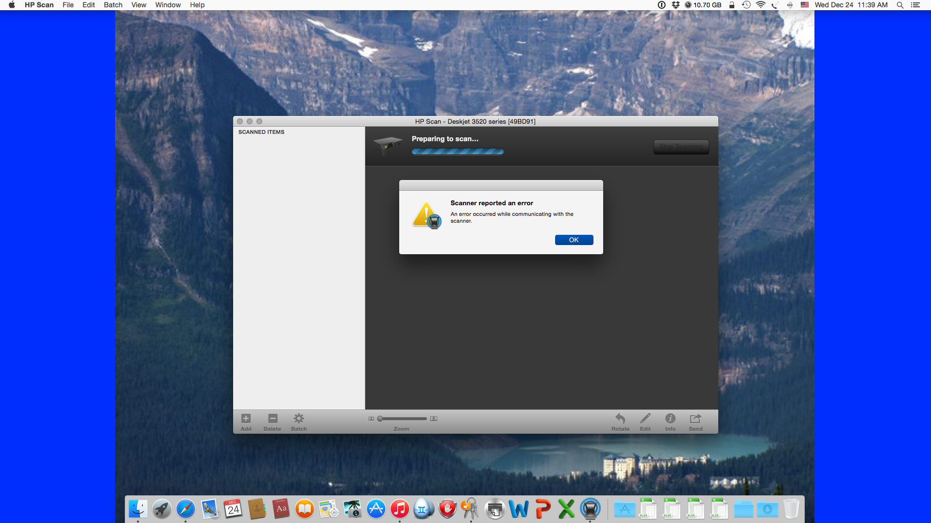 Trouble scanning from HP Scan Utility - Apple Community