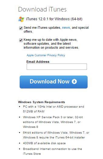 itunes 64 bit for windows 7 service pack 1