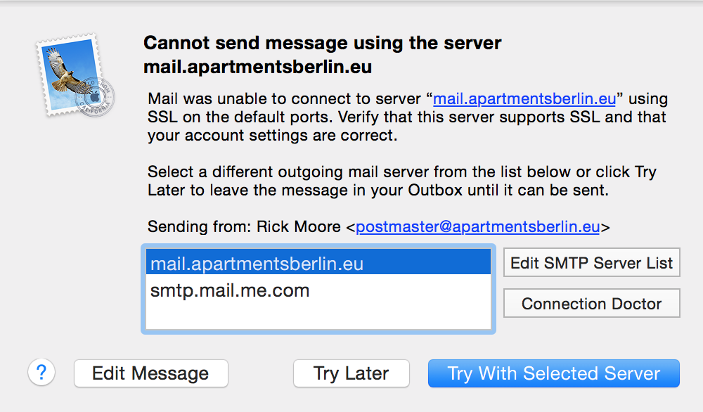 Emails from Thunderbird or Mac Mail won&#… - Apple Community