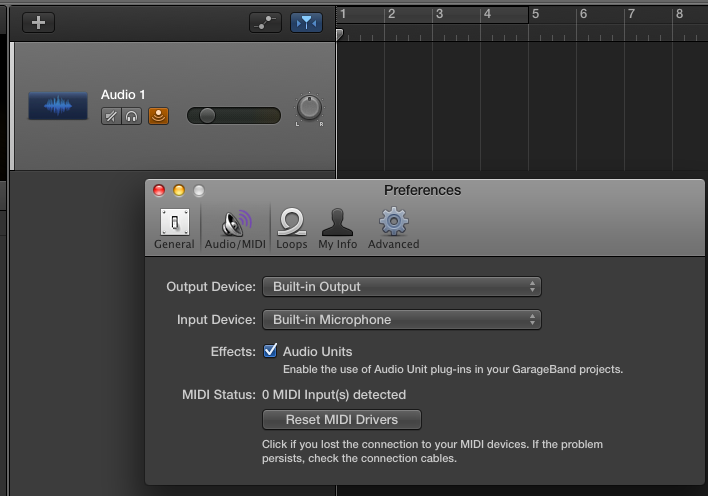 GarageBand: Latency voice recording with … - Apple Community