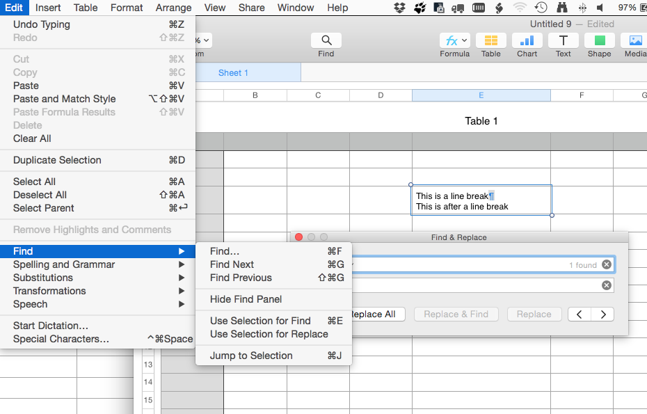 How to a remove line breaks from cells in… - Apple Community