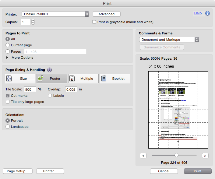 Print large PDF in Preview over several p… - Apple Community