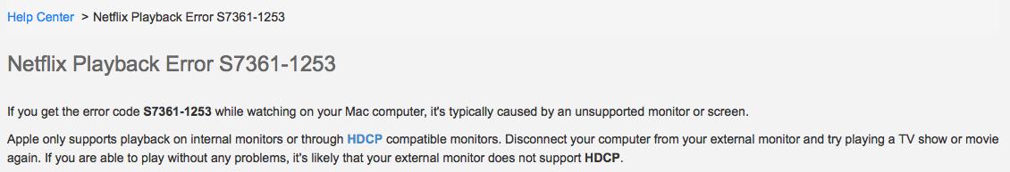 Netflix Error S7361-1253 - Apple Community