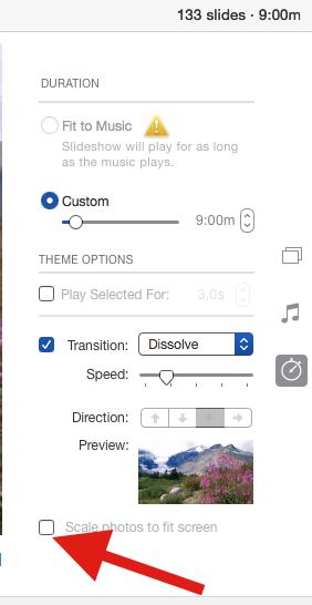 How do I make slideshow full screen in Ph… - Apple Community