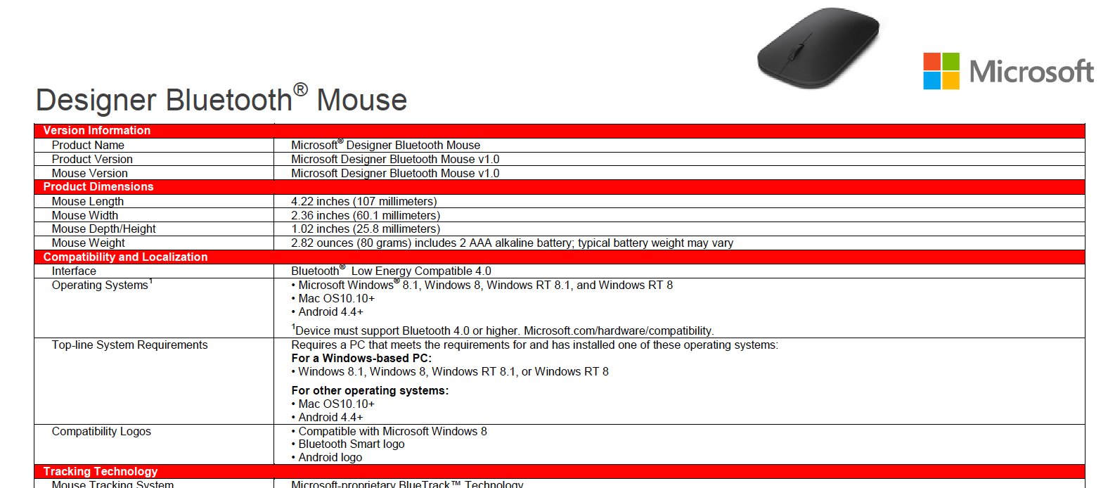 microsoft designer bluetooth mouse not working windows 7