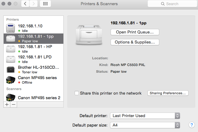 ricoh drivers for macbook pro