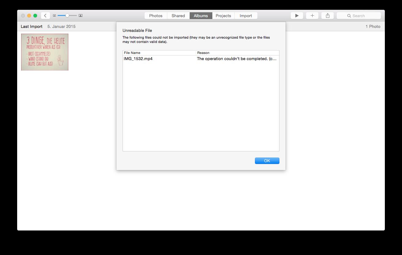 Unreadable File Photos App 10 10 3 import… - Apple Community