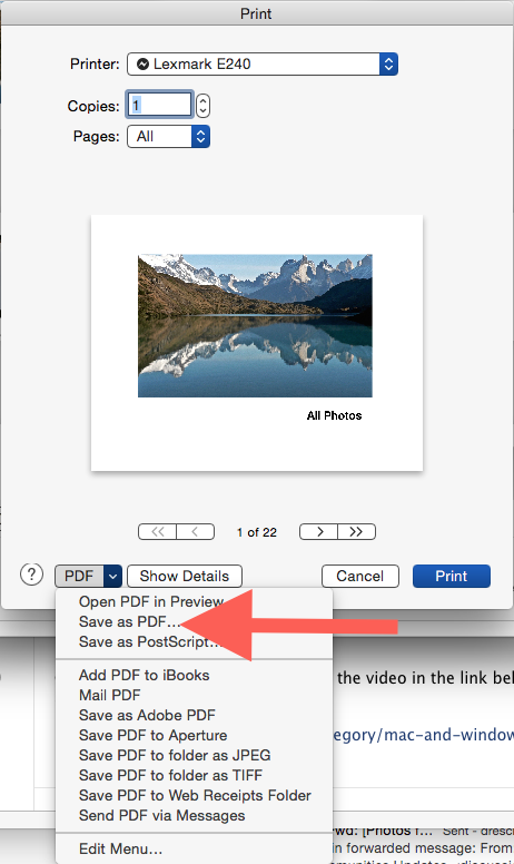How do I export a photo book project to p… - Apple Community