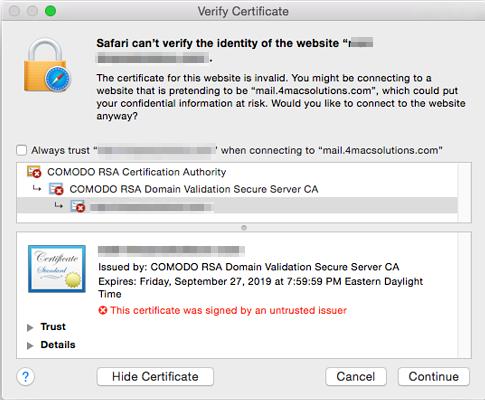 comodo ssl certificates failing - Apple Community