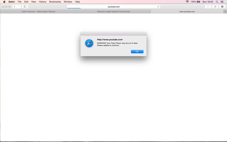 adobe flash player update popup virus mac