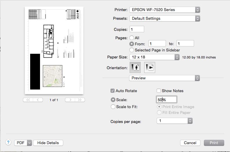 printing to 12 x 18 on Epson WF 7520 in Y… - Apple Community