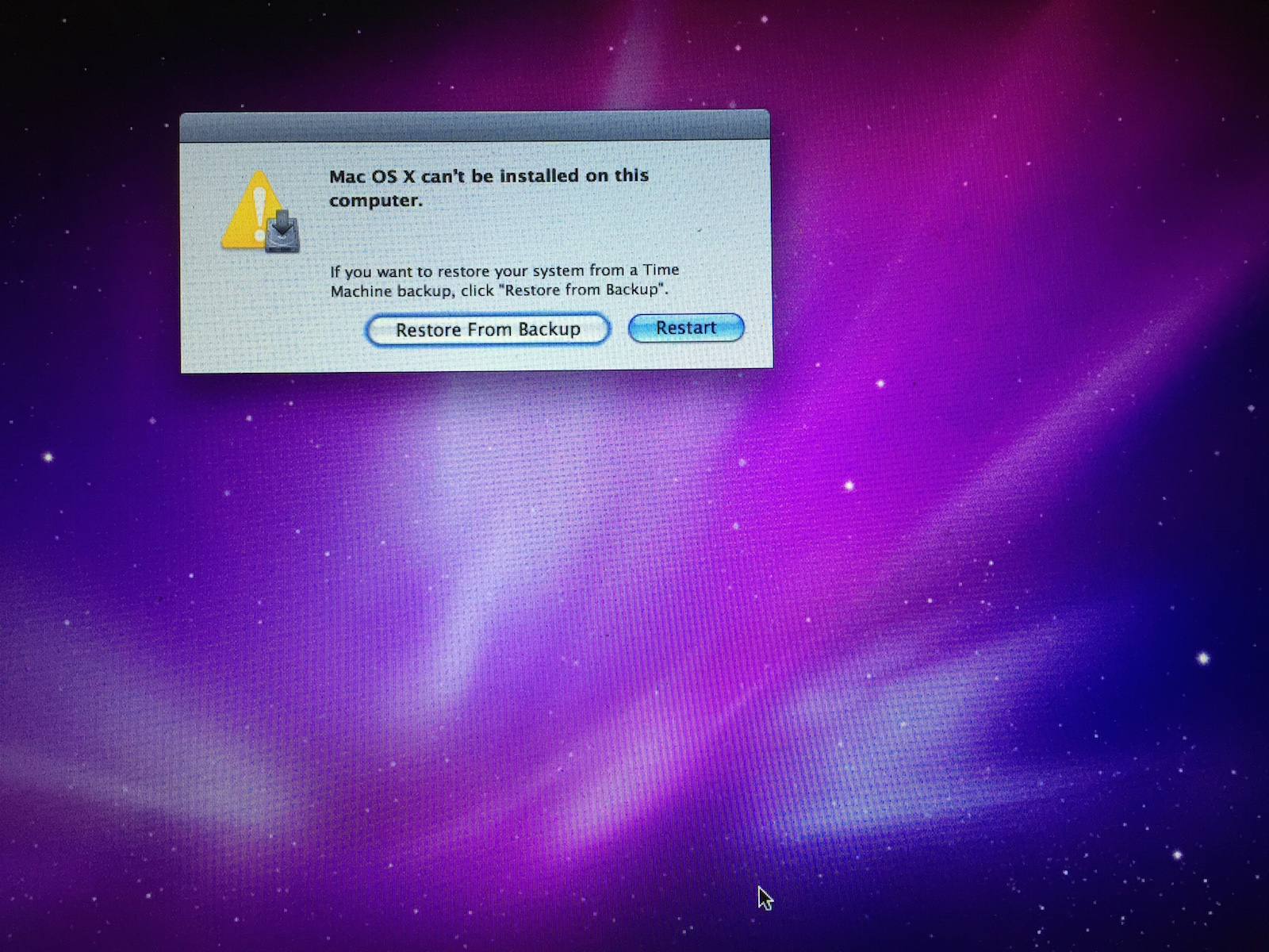 Mac OS X can't install on this comput… - Apple Community