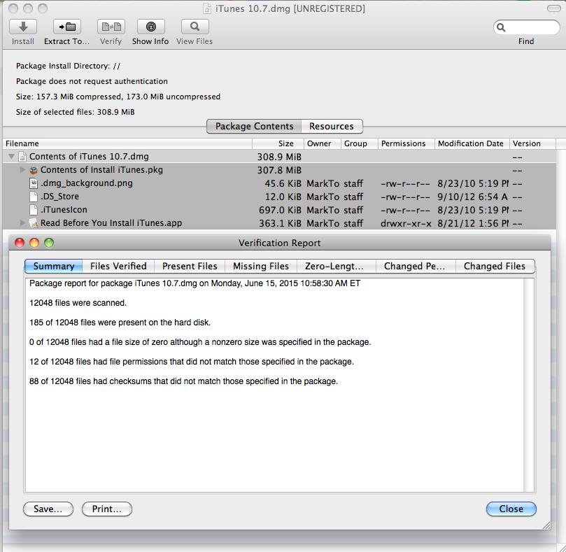 itunes 10.7 mac os x 10.6.8