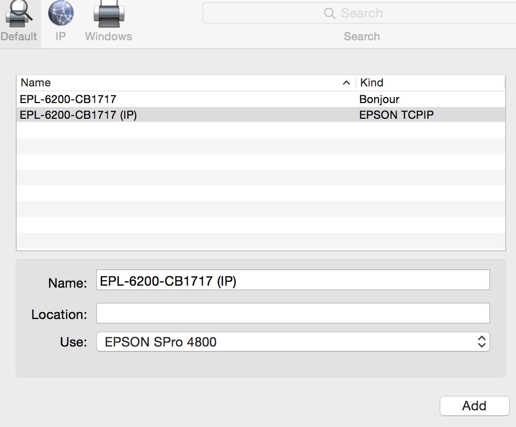Setting up Epson Pro 4800 problem - Apple Community