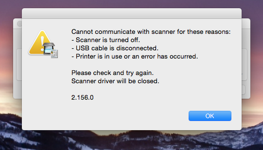 Why can I print but not scan? (using Cano… - Apple Community