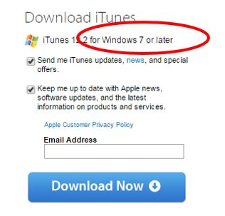 itunes download windows xp sp3