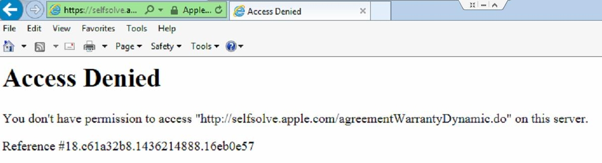 Access Denied  You don't have permiss… - Apple Community