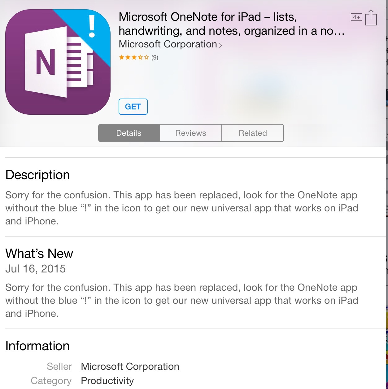 Exclamation Point on OneNote App Icon - Apple Community