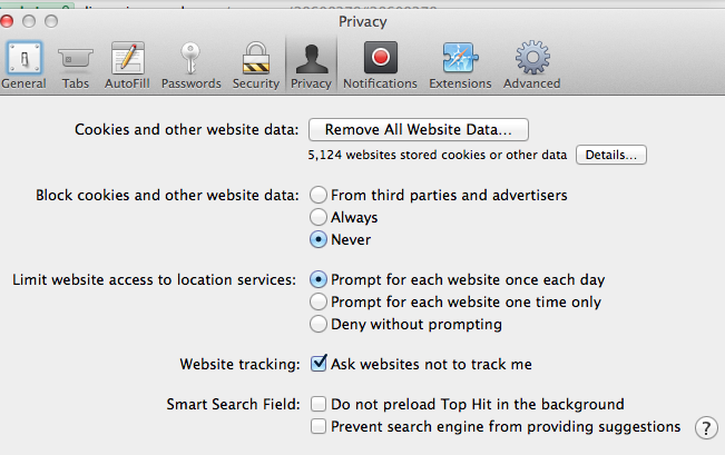 Can't remove website data - Apple Community
