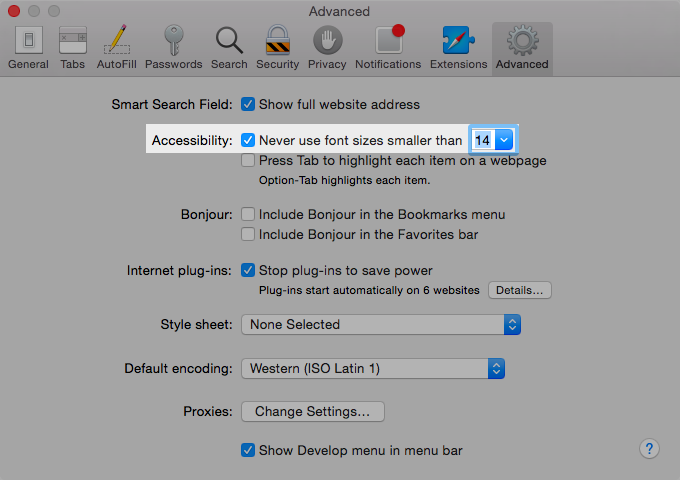 Default zoom without CSS method? - Apple Community