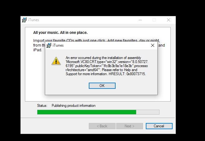 Cannot install Itunes on Windows 10 - Apple Community