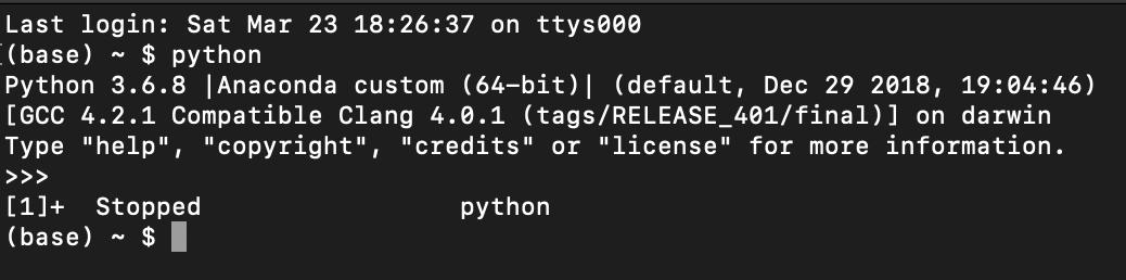 1] + stopped python - Apple Community