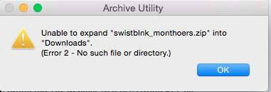 I cant unzip files without getting an err… - Apple Community