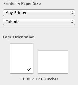 How Do I Create A Tabloid Sized Document Apple Community