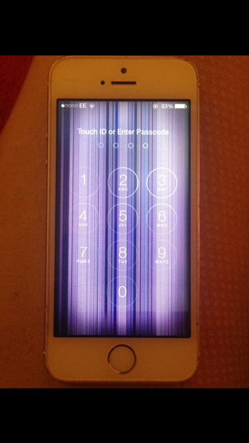 purple vertical lines on screen? - Apple Community