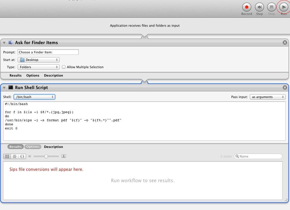 convert jpg to pdf mac automator