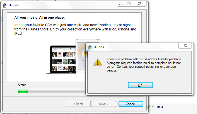 problem installing itunes 12.3 on windows 10