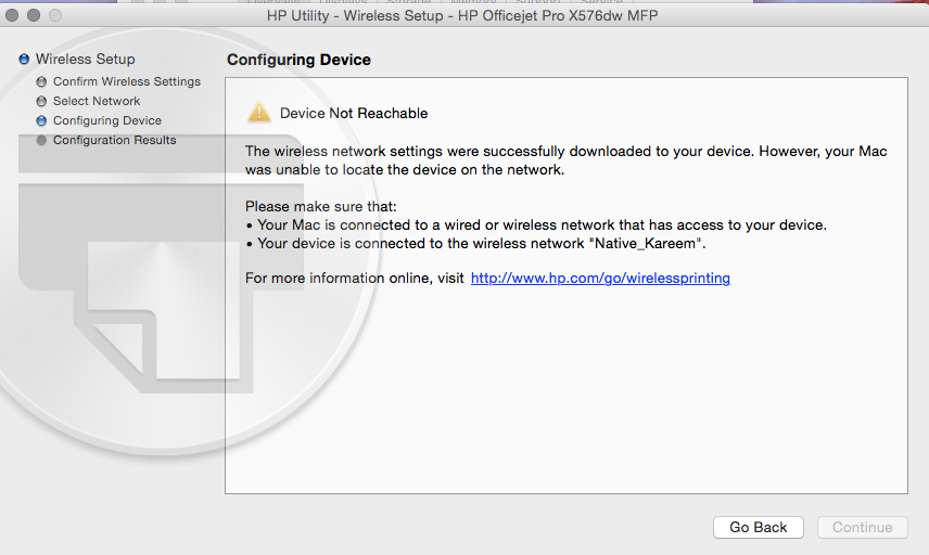 Trouble with connecting printer wirelessl… - Apple Community