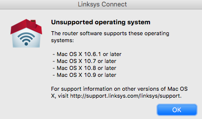 After os 10 11 link sys software is unsup… - Apple Community