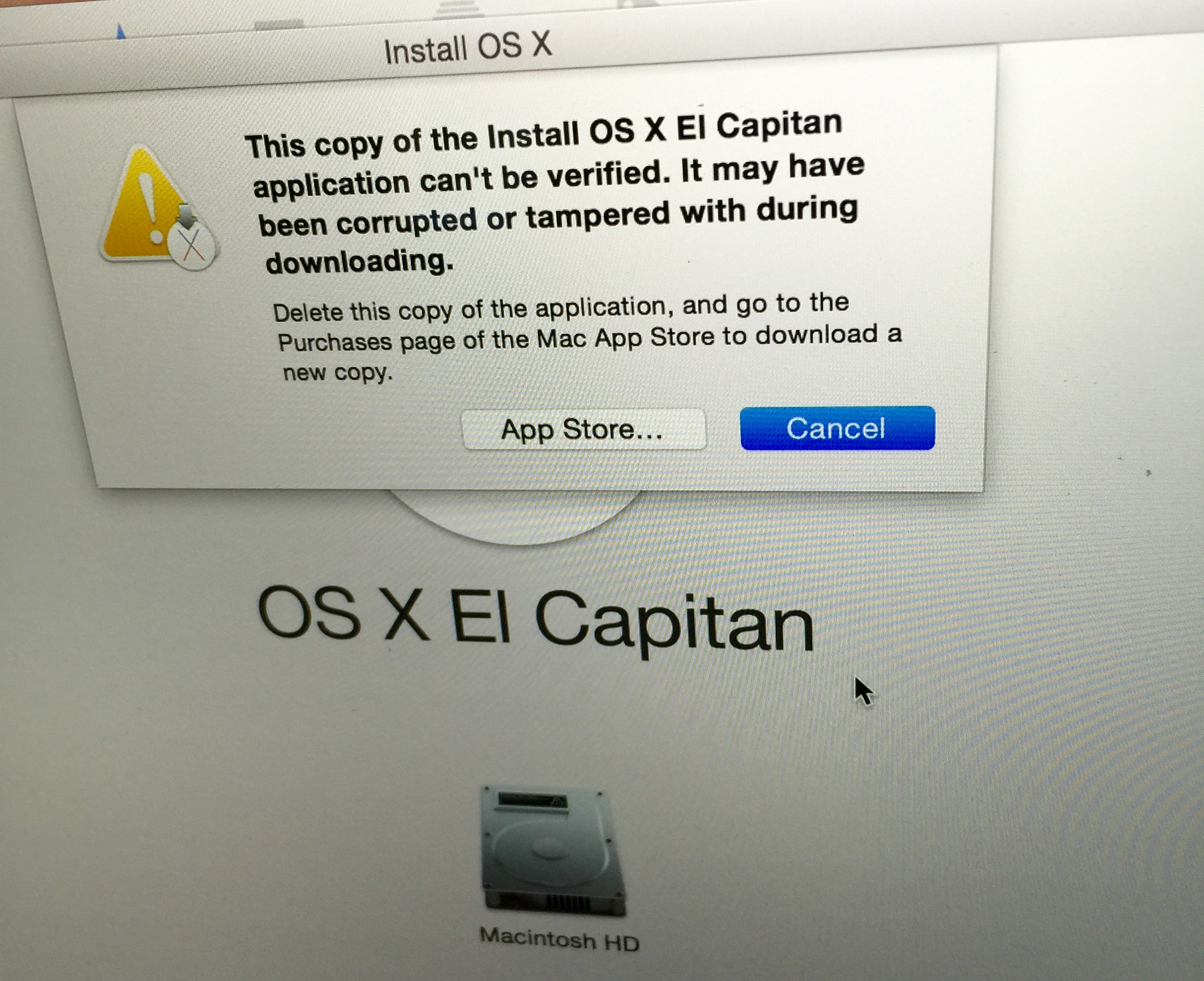 Corrupted El Capitan? - Apple Community