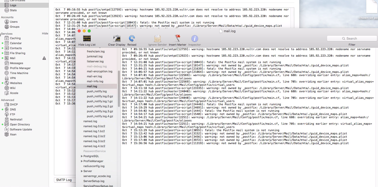 Can't find SMTP Log in Server 5 0 4 - Apple Community