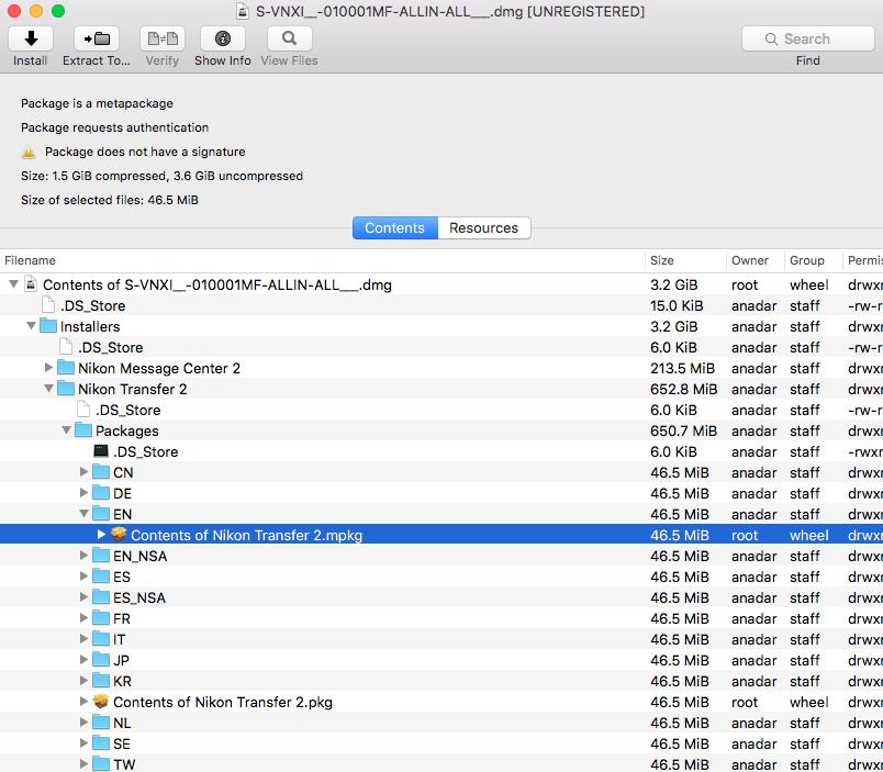 ViewNX 2 Nikon software doesn't work … - Apple Community