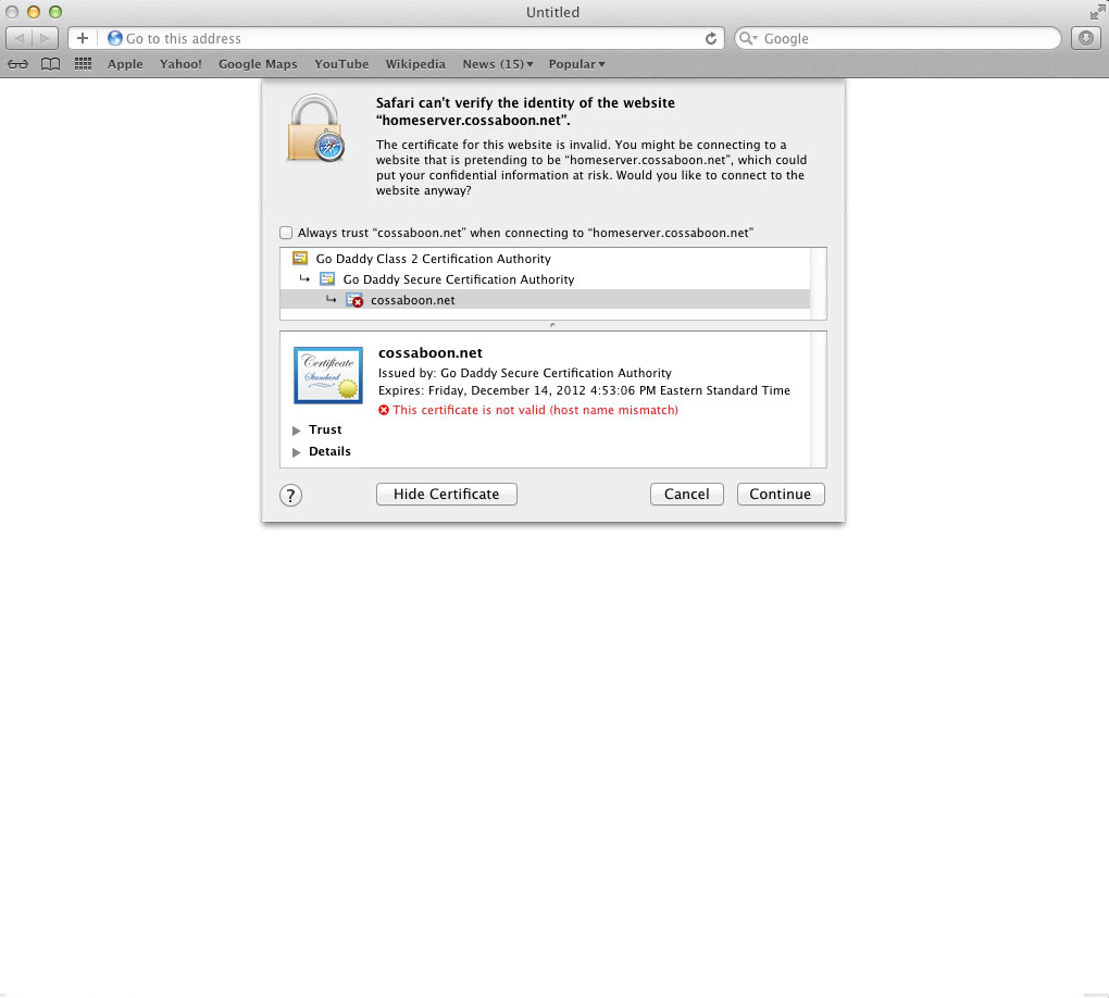Signing Certificates Domain Or Host Apple Community
