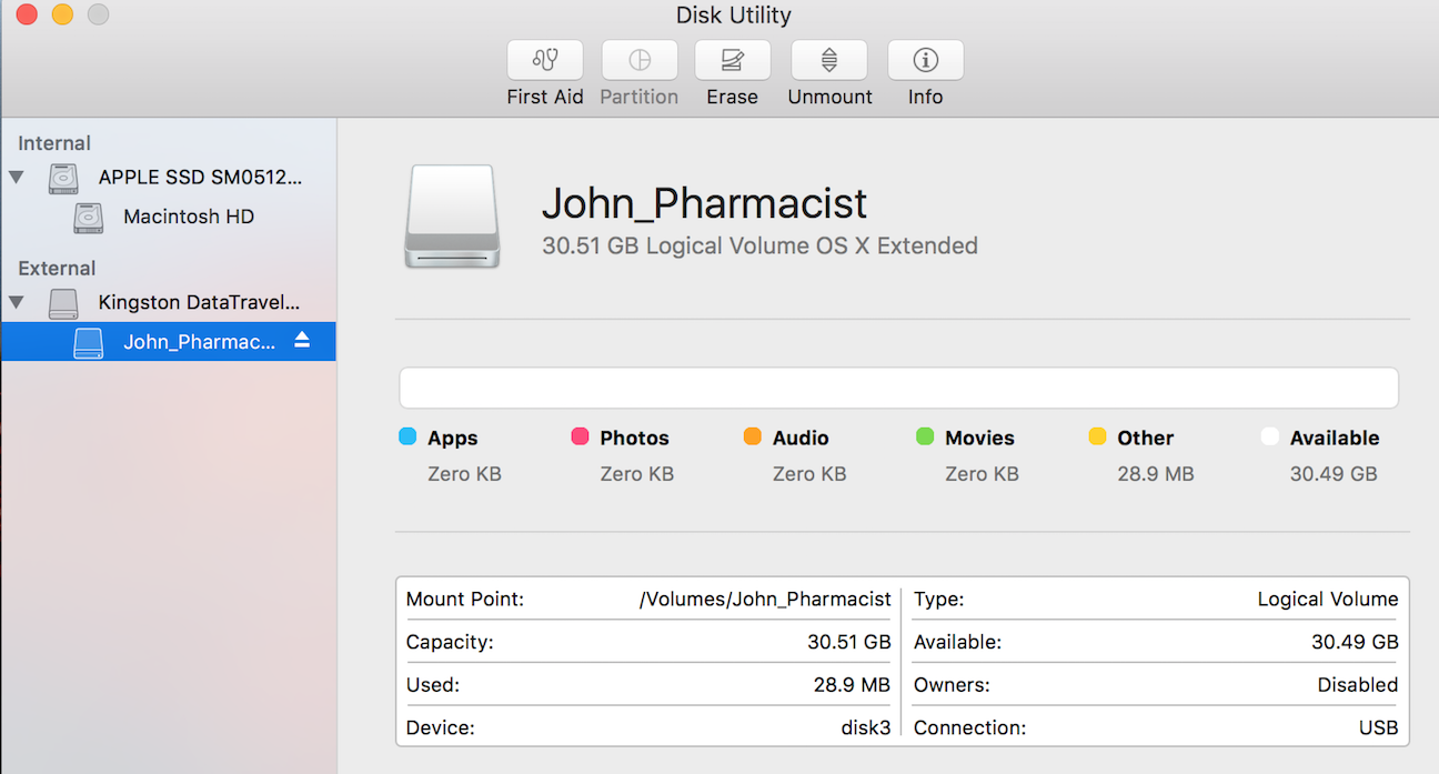 Encrypting a new usb stick  Error message… - Apple Community