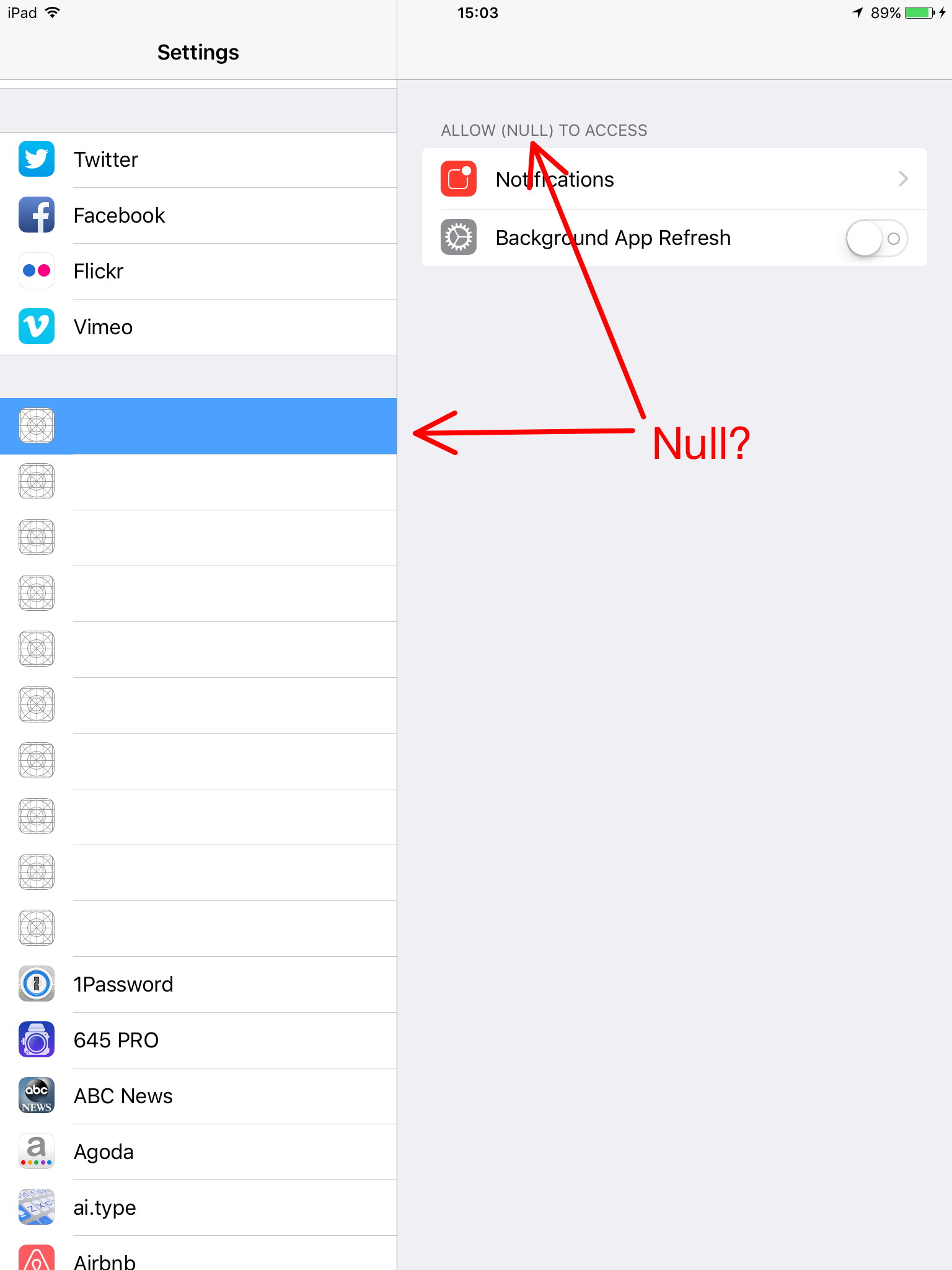 Why Does My Ipad Have Null Apps Apple Community